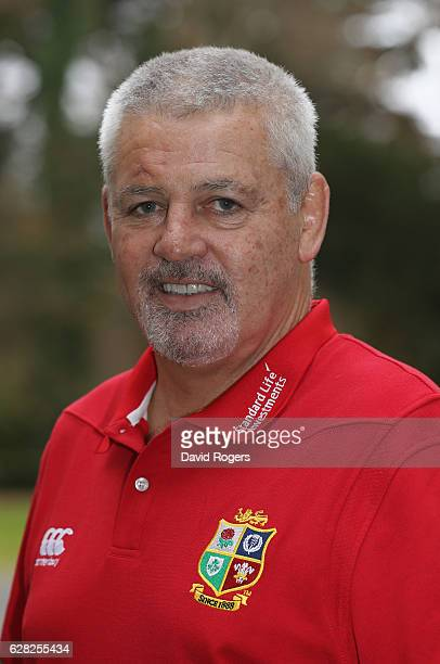 Warren Gatland the Lions head coach poses for a portrait during the 2017 British Irish Lions Coaching Team Announcement held at Carton House Hotel on...