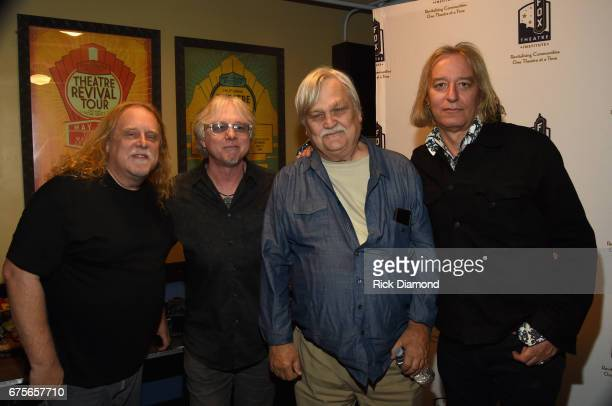 Warren Haynes of GOV'T MULE Mike Mills of REM Col Bruce Hampton and Peter Buck of REM backstage at the 'Hampton 70 A Celebration Of Col Bruce...