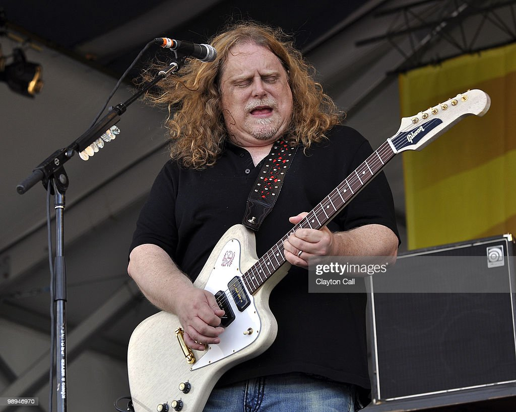 Warren Haynes performs with Gov't Mule at the Acura Stage on day four of New Orleans Jazz & Heritage Festival on April 29, 2010 in New Orleans, Louisiana. He plays a Gibson Firebird guitar.