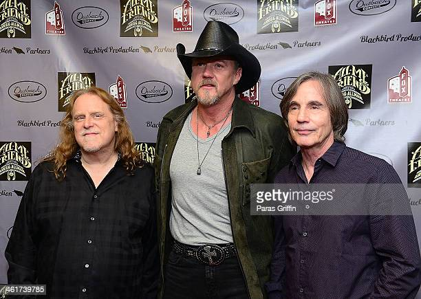 Warren Haynes Trace Adkins and Jackson Browne attends All My Friends Celebrating the Songs Voice of Gregg Allman at The Fox Theatre on January 10...