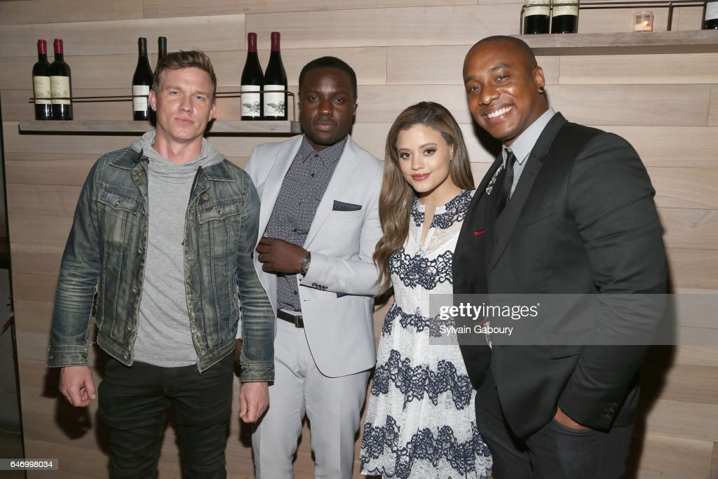 Warren Kole, Dayo Okeniyi, Sarah Jeffery and Hampton Fluker attend NBC and The Cinema Society Host the After Party for the Season 2 Premiere of 'Shades of Blue' on March 1, 2017 in New York City.