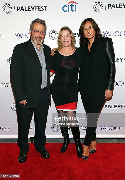 Warren Leight Julie Martin and Mariska Hargitay attend 2nd Annual Paleyfest New York Presents 'Law Order SVU' at Paley Center For Media on October 13...