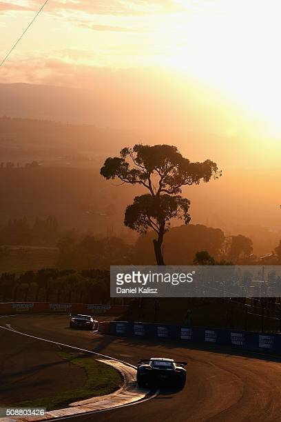 Warren Luff drives the Objective Racing McLaren 650S during the Bathurst 12 Hour Race at Mount Panorama on February 7 2016 in Bathurst Australia