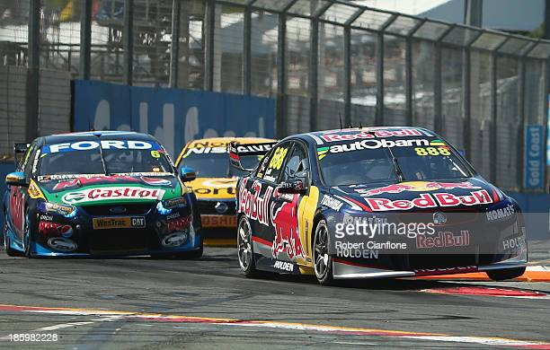 Warren Luff drives the Red Bull Racing Australia Holden during race 31 of the Gold Coast 600 which is round 12 of the V8 Supercars Championship...