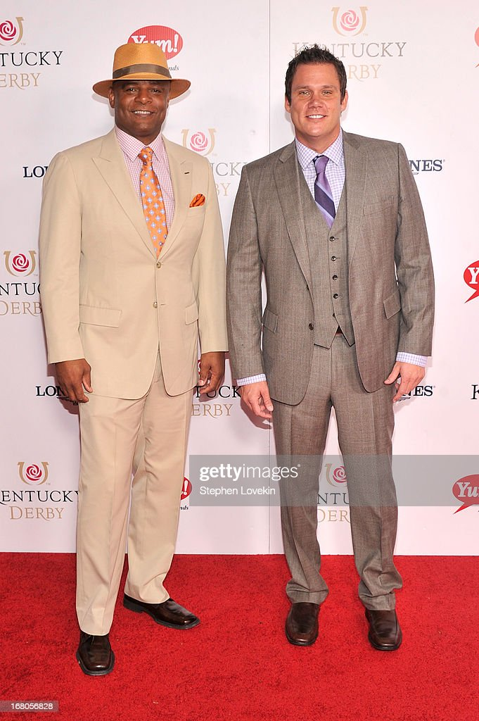 Warren Moon and Bob Guiney attend the 139th Kentucky Derby at Churchill Downs on May 4, 2013 in Louisville, Kentucky.