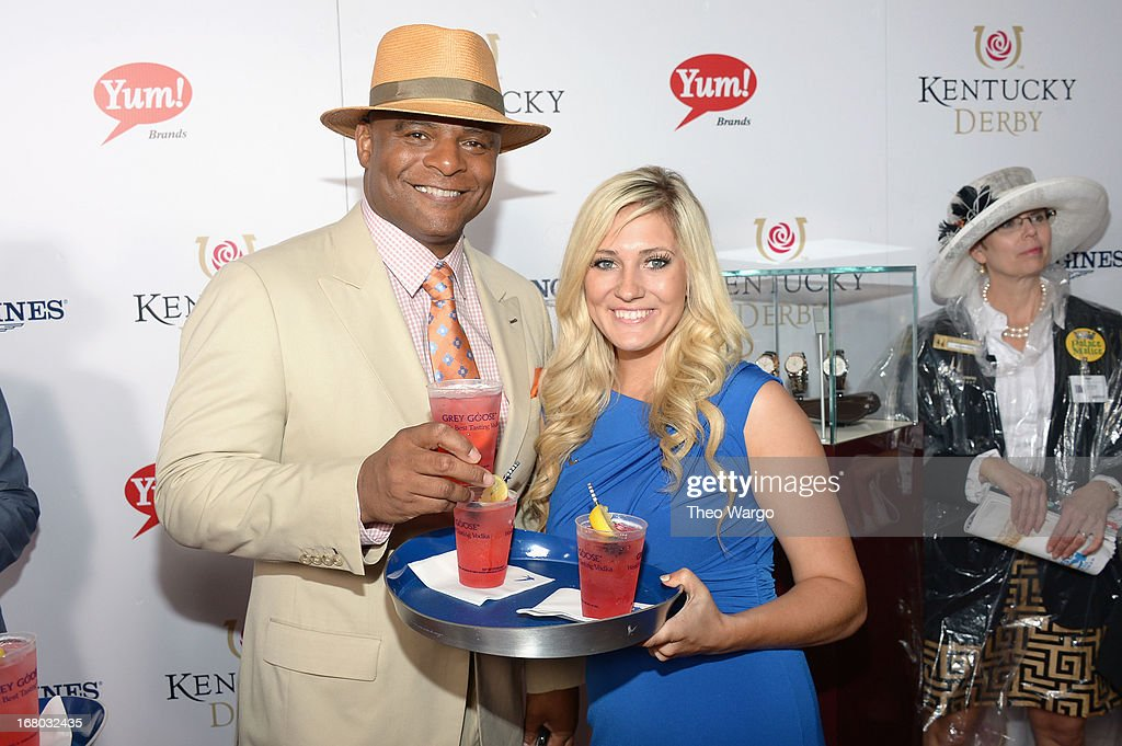 <a gi-track='captionPersonalityLinkClicked' href=/galleries/search?phrase=Warren+Moon&family=editorial&specificpeople=226907 ng-click='$event.stopPropagation()'>Warren Moon</a> at the GREY GOOSE Red Carpet Lounge at the Kentucky Derby at Churchill Downs on May 4, 2013 in Louisville, Kentucky.