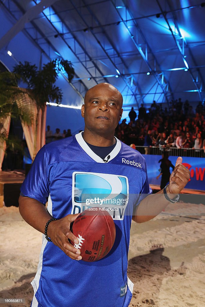 Warren Moon attends DIRECTV'S Seventh Annual Celebrity Beach Bowl at DTV SuperFan Stadium at Mardi Gras World on February 2, 2013 in New Orleans, Louisiana.