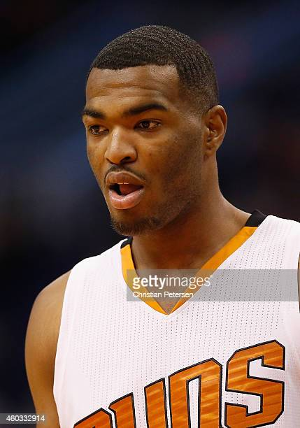 J Warren of the Phoenix Suns during the NBA game against the Indiana Pacers at US Airways Center on December 2 2014 in Phoenix Arizona NOTE TO USER...