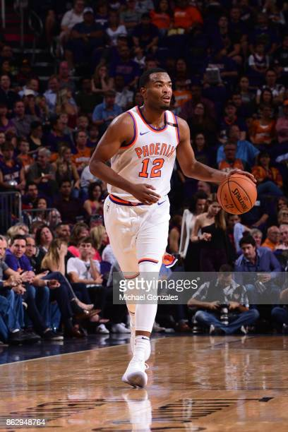Warren of the Phoenix Suns handles the ball against the Portland Trail Blazers on October 18 2017 at Talking Stick Resort Arena in Phoenix Arizona...