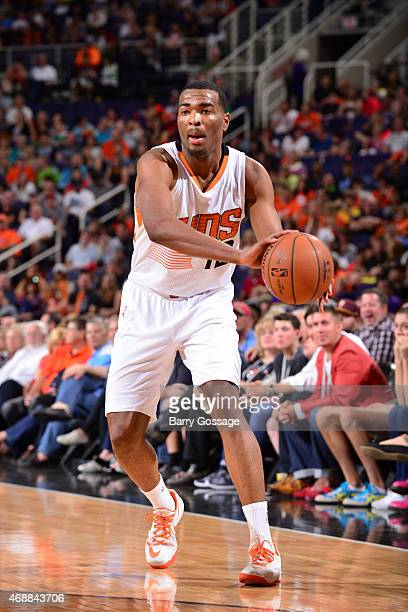 J Warren of the Phoenix Suns handles the ball against the Utah Jazz on April 4 2015 at US Airways Center in Phoenix Arizona NOTE TO USER User...