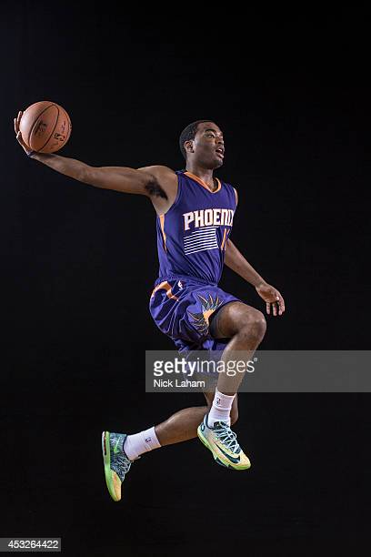 J Warren of the Phoenix Suns poses for a portrait during the 2014 NBA rookie photo shoot at MSG Training Center on August 3 2014 in Tarrytown New...