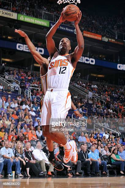 J Warren of the Phoenix Suns shoots against the Utah Jazz on April 4 2015 at US Airways Center in Phoenix Arizona NOTE TO USER User expressly...