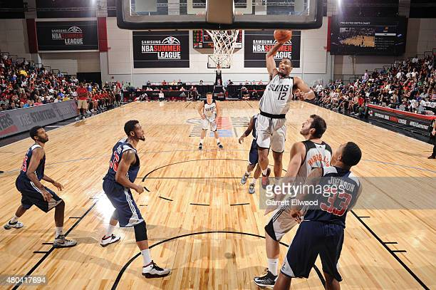 J Warren of the Phoenix Suns shoots against the Washington Wizards during the game on July 11 2015 at Thomas And Mack Center Las Vegas Nevada NOTE TO...
