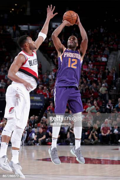 Warren of the Phoenix Suns shoots the ball against the Portland Trail Blazers on October 3 2017 at the Moda Center in Portland Oregon NOTE TO USER...