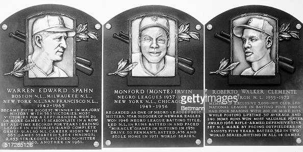 Warren Spahn Monte Irvin and the late Roberto Clemente will be inducted into baseball's Hall of Fame on August 6th Spahn won more games than any...