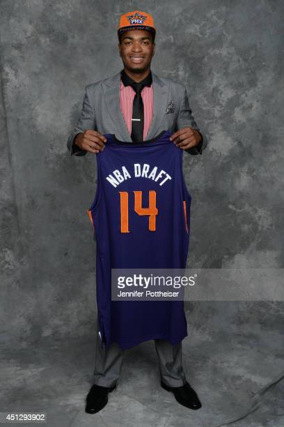 J Warren the 14th pick overall by the Phoenix Suns poses for a portrait during the 2014 NBA Draft at the Barclays Center on June 26 2014 in the...