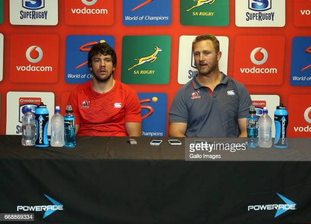 Warren Whiteley of Lions and coach Johan Ackermann during the Super Rugby match between DHL Stormers and Emirates Lions at DHL Newlands on April 15...