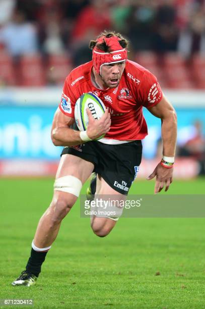 Warren Whiteley of the Lions during the Super Rugby match between Emirates Lions and Jaguares at Emirates Airline Park on April 21 2017 in...