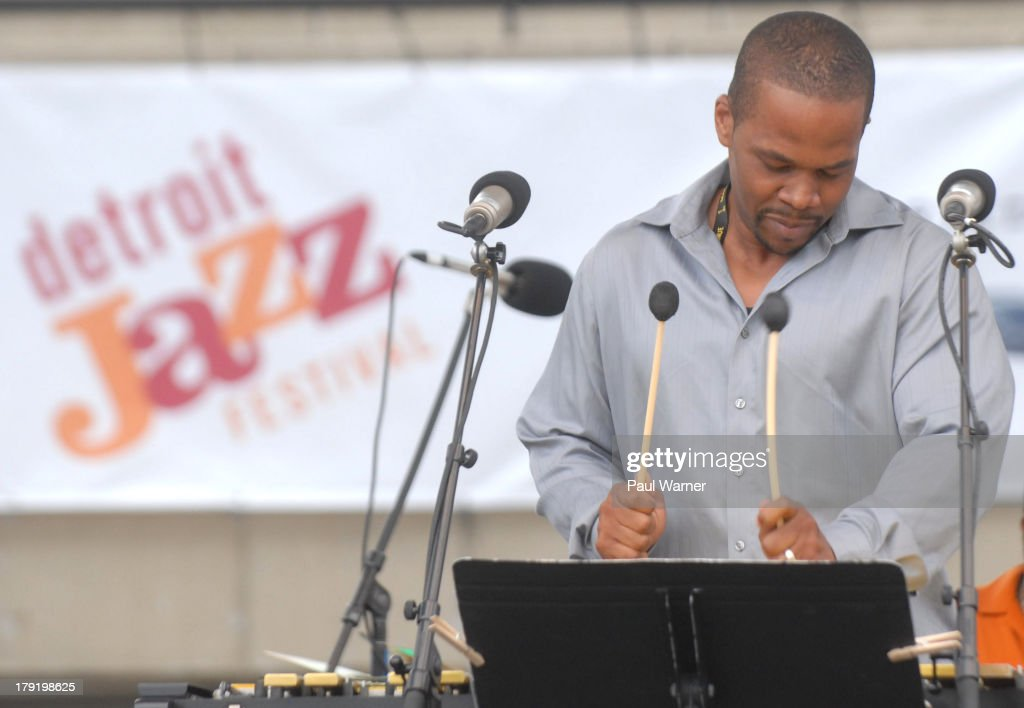 Warren Wolf performs with the Mack Avenue Superband during day 2 of the Detroit Jazz Festival on August 31, 2013 in Detroit, Michigan.