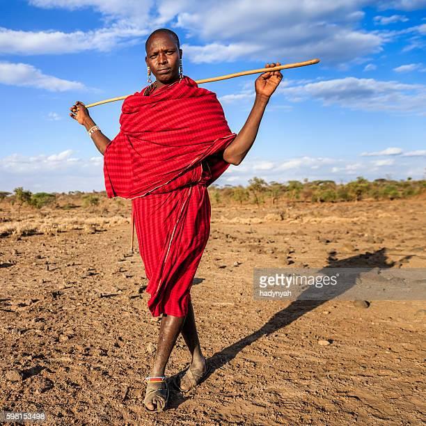 Warrior from Maasai tribe, Kenya, Africa