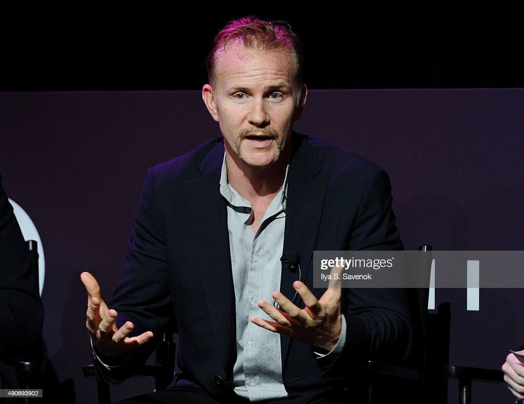 Warrior Poets Filmmaker CEO and President Morgan Spurlock speaks onstage at The Evolution of Branded Content From the Small Screen to the Big Screen...