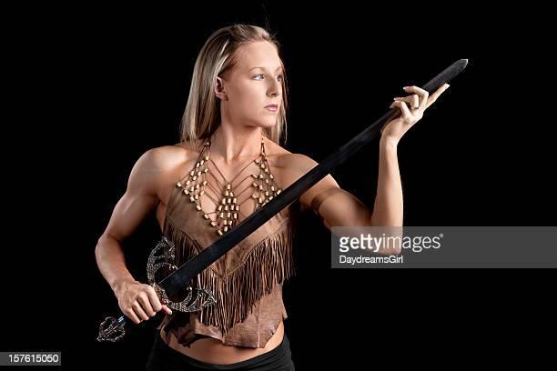 Krieger Frau mit Schwert