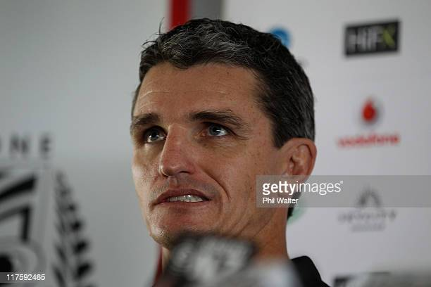Warriors coach Ivan Cleary speaks to the media at Mt Smart Stadium on June 29 2011 in Auckland New Zealand Cleary announced his decision to leave the...