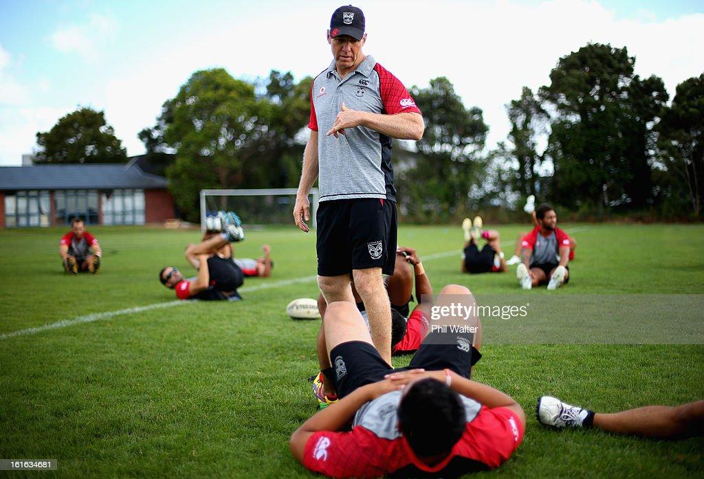 Warriors coach Matt Elliott during a New Zealand Warriors NRL training session at Mt Smart Stadium on February 14, 2013 in Auckland, New Zealand.