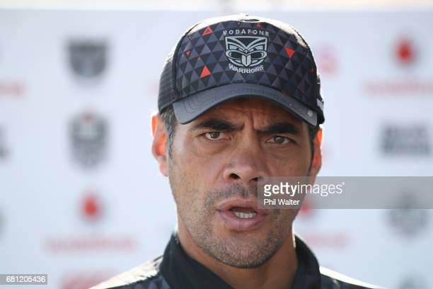 Warriors coach Stephen Kearney during a New Zealand Warriors NRL media session at Mt Smart Stadium on May 10 2017 in Auckland New Zealand