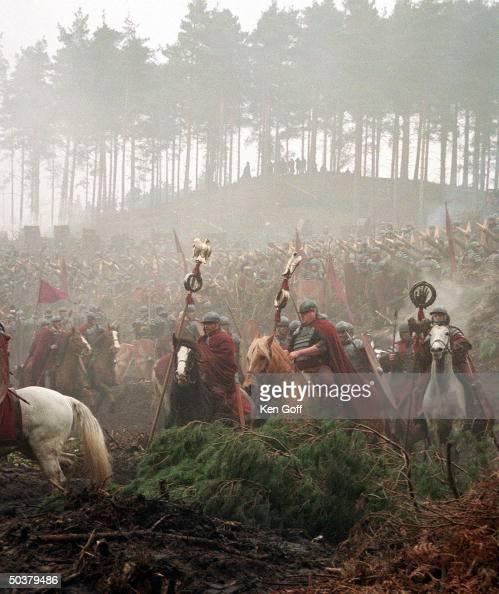 Warriors on horseback ...
