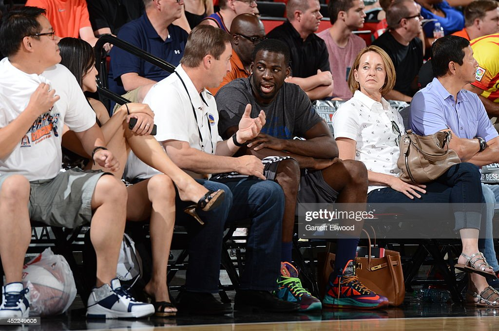 Warriors owner Joe Lacob and Draymond Green on July 12, 2014 at Cox Pavilion in Las Vegas, Nevada.