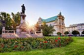 Warsaw - Adam Mickiewicz monument at Krakowskie Przedmiescie Street, Poland