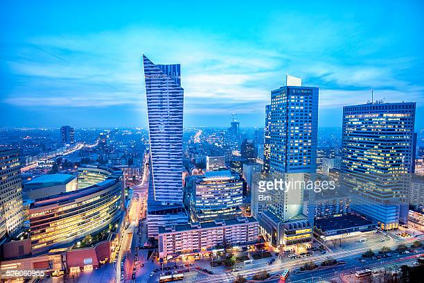 Warsaw Business District at Dusk, Poland