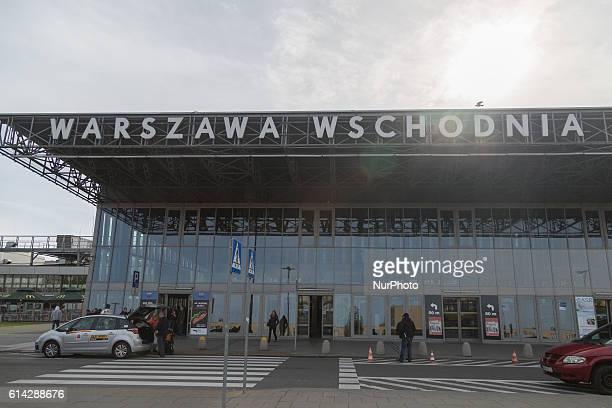 Warsaw East Station in Warsaw Poland on 13 October 2016