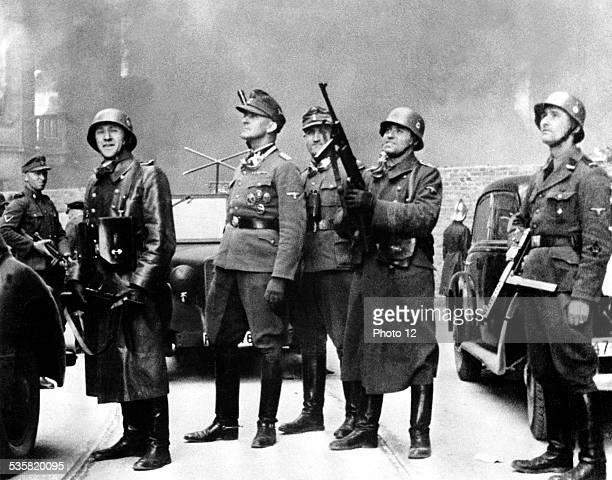 SS Major General Jürgen Stroop with his troops 20th century Poland Second World War war Centre de documentation juive