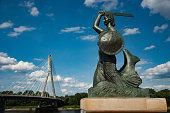 The monument of polish legend. Warsaw, Powiśle.