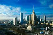 Amazing Warsaw skyline in Poland.