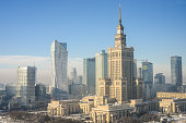 View of the Warsaw skyline in Poland, Warsaw