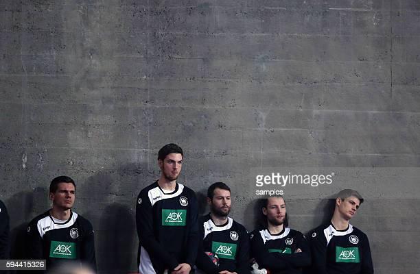 von links Erik SCHMIDT Deutschland Hendrik PEKELER Deutschland Steffen FÄTH Deutschland Rune DAHMKE Deutschland 12th Men's European Handball...