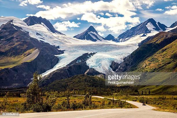Warthington Glacier in near Valdez, Alaska
