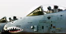 US A10 Warthog pilots go through their preflight checks in the cockpit before takeoff on the flight line at an air base in the Arabian Gulf near the...