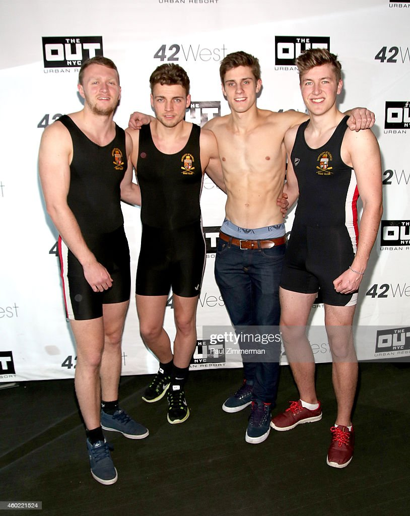 Warwick Rowers Oliver Greene, Laurence Hulse, Matthew Dabell and Thomas Robinson attend The Warwick Rowers 2015 Movie Premiere and Calendar Launch Event at 42West and The Out NYC on December 9, 2014 in New York City.