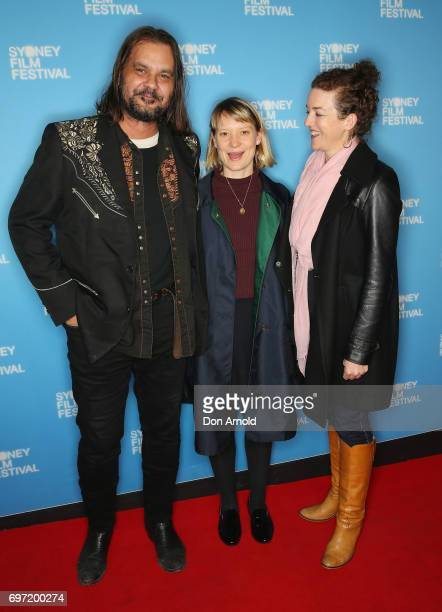 Warwick Thornton and Mia Wasikowska arrives ahead of the Sydney Film Festival Closing Night Gala and Australian premiere of Okja at State Theatre on...