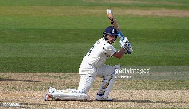Warwickshire batsman Ian Bell picks up some runs during day 4 of the Specsavers Division One county championship match between Warwickshire and...