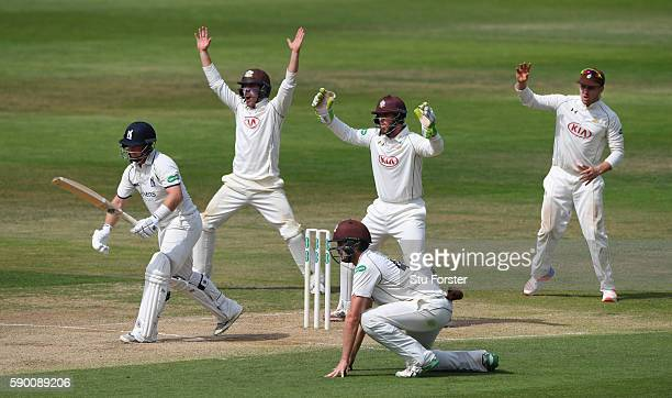 Warwickshire batsman Tim Ambrose survives a confident appeal during day 4 of the Specsavers Division One county championship match between...