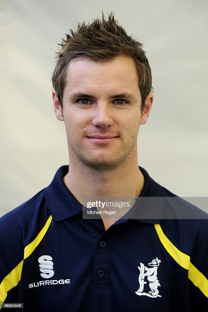 Warwickshire Sports Science Assistant <a gi-track='captionPersonalityLinkClicked' href=/galleries/search?phrase=Chris+Armstrong&family=editorial&specificpeople=661189 ng-click='$event.stopPropagation()'>Chris Armstrong</a> during the Warwickshire County Cricket Club Photocall at Edgebaston on April 7, 2010 in Birmingham, England.