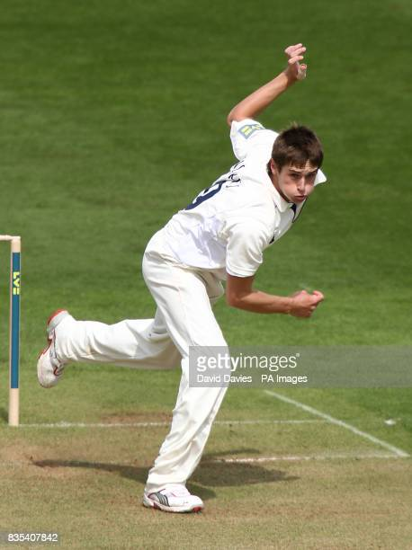 Warwickshire's Chris Woakes bowls against Hampshire