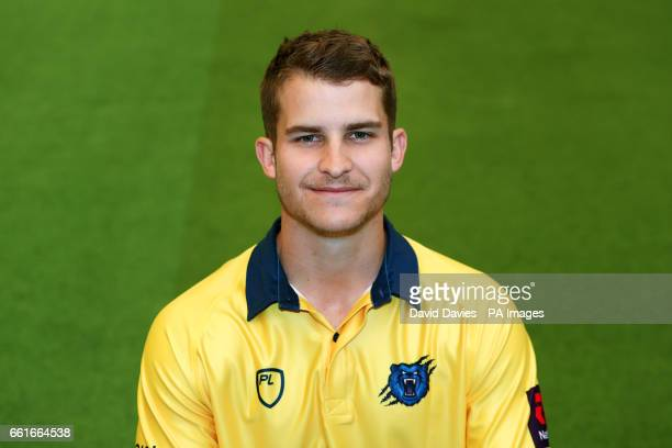 Warwickshire's Sam Hain during a photocall at Edgbaston Birmingham