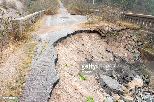Washed Out Road : Stock Photo