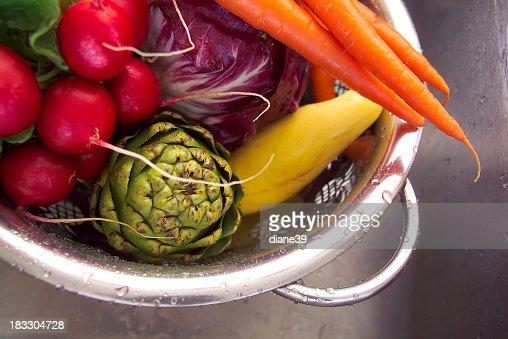 washed veggies